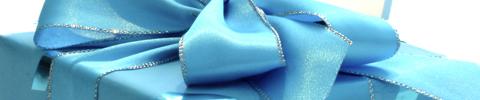 Blå gave thumbnail