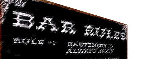Regler for kunder i baren