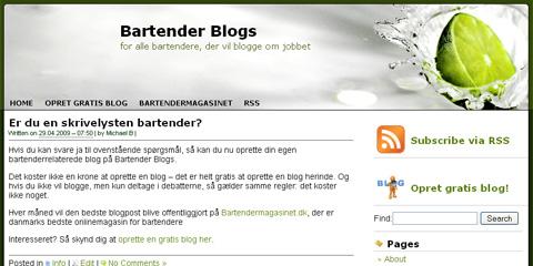 Få din egen bartenderblog!