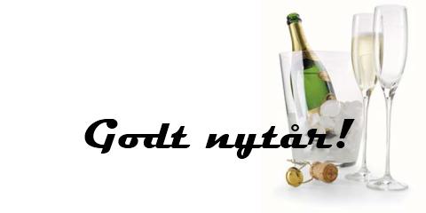 Champagne og vin til nytårsfesten